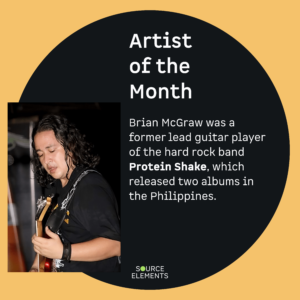 Brian McGraw was a former lead guitar player of the hard rock band Protein Shake, which released two albums in the Philippines.